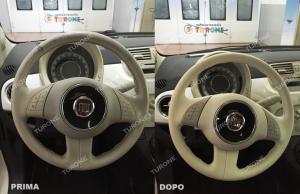 Rigenerazione volante e sedile Fiat 500